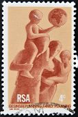 : A stamp printed in RSA honoring Family planing
