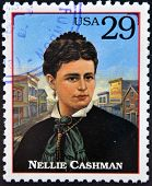 Stamp printed in USA shows Nellie Cashman (also Ellen)