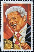 A stamp printed in USA shows Tito Puente