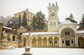 Udine's Castel From Piazza Libert�