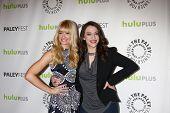 LOS ANGELES - MAR 14:  Beth Behrs, Kat Dennings arrives at the