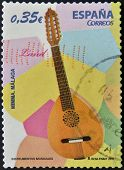 SPAIN - CIRCA 2011: A stamp printed in Spain shows a lute, circa 2011