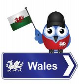 Country sign Wales