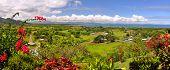 Panorama de la costa de oeste de Fiji.