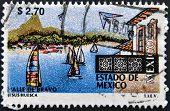 sailboats and buildings at the resort town of Valle de Bravo in the Estado de Mexico
