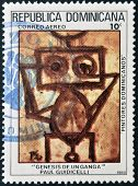 stamp printed in Dominican Republic shows