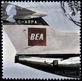1964 Trident with the BEA (British European Airways) red square logo design