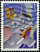 A stamp printed in USA shows Dumbo