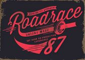 vintage illustration retro race car for apparel