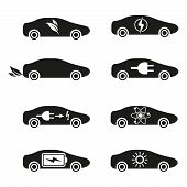 Set of Different Fuel icons