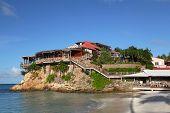 O bonito hotel Eden Rock em St Barth, Antilhas Francesas.