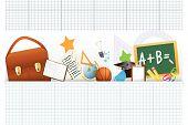 Terug naar School pictogrammen Set