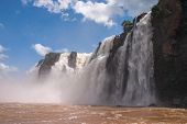 The Iguacu Falls In Argentina Brazil From Adventure Boat