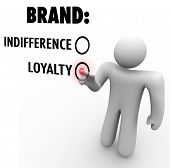 A customer chooses brand loyalty over indifference based on a company or product's reputation as a l