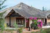 pic of guest-house  - guest house with thatched roof in Mui Ne Southern Vietnam - JPG