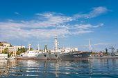 The Military Ship In Naval Bay Of Sevastopol