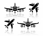 Set of transport icons - Plane