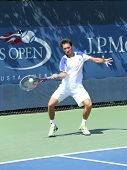 Professional tennis player Sergiy Stakhovsky from Ukraine during first round match at US Open 2013