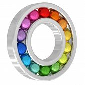 Bearing With Colorful Balls Isolated On White