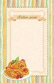 Italian Cuisine Restaurant Menu Card Design In Vintage Style