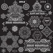 Vector Vintage Christmas Design Elements