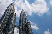 stock photo of petronas towers  - Petronas Twin Tower at Kuala Lumpur - JPG