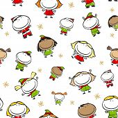 Christmas seamless pattern (raster version)