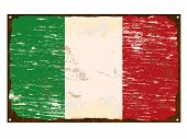 Italian Flag Enamel Sign