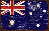 Australian Flag Enamel Sign