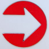 Metal Arrow Sign