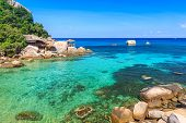 Beautiful Sea On Tropicla Island With Crystal Clear Water