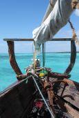 Arabian Dhow am indischen Ozean
