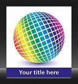 Multicolored globe with copy space.