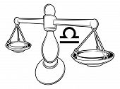 stock photo of libra  - Illustration of Libra the scales zodiac horoscope astrology sign - JPG