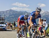 The Cyclists Alexandre Geniez And Arthur Vichot