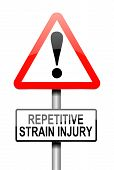 Repetitive Strain Injury Concept.