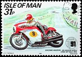 Motorcycle Race Stamp #3