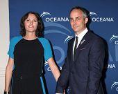 LOS ANGELES - OCT 30:  Jorja Fox, Wallace Langham at the Oceana's Partners Awards Gala 2013 at Bever