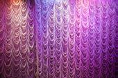 Illuminated White Curtain Background Texture