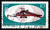Postage Stamp Gdr 1971 Crushing And Conveyor Plant