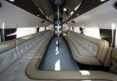 pic of limousine  - Luxury rented car interior - JPG