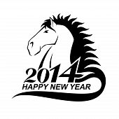 Horse profile is a symbol of 2014