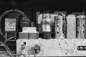 Inside an Antique Radio Set