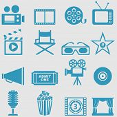 Movie icons set.Vector