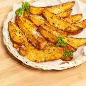 Potato Wedges With Parmesan