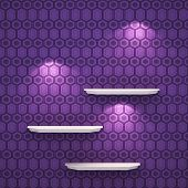 3D Illustration Isolated Empty Shelf For Exhibit