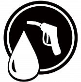 picture of firehose  - black icon with gun for fuel pump  - JPG