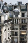 stock photo of passy  - Beautiful classical apartments located in the area of Passy in Paris - JPG