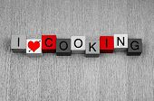 I Love Cooking - Sign for Serving Food