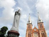 The Notre-Dame Saigon Basilica in Ho Chi Minh City, Vietnam, Southeast Asia